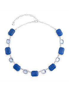 Gloria Vanderbilt Silver-Tone Basic Collar Necklace
