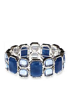 Gloria Vanderbilt Silver-Tone Basic Stretch Stone Bracelet
