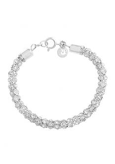 Gloria Vanderbilt Silver-Tone Basic Social Chain Bracelet