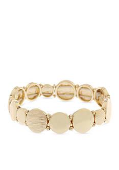 Gloria Vanderbilt Gold-Tone Stretch Bracelet