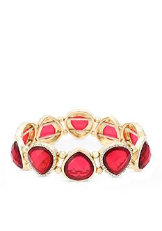 Gloria Vanderbilt Gold-Tone Claret Stretch Bracelet