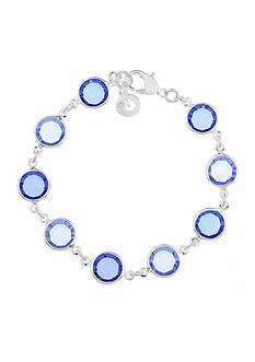 Gloria Vanderbilt Silver-Tone Color Cascade Chain Bracelet