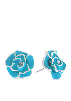 Gloria Vanderbilt Silver-Tone Colors In Bloom Stud Earrings
