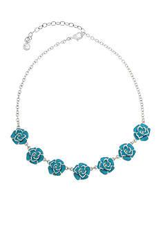 Gloria Vanderbilt Silver-Tone Colors in Bloom Flower Statement Necklace