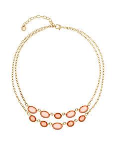 Gloria Vanderbilt Gold-Tone Colorpop Jewel Statement Necklace