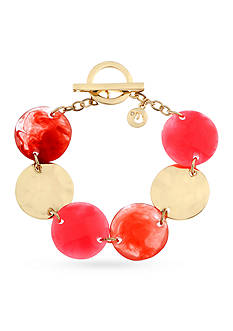 Gloria Vanderbilt Gold-Tone Chiclet Coral Chain Bracelet
