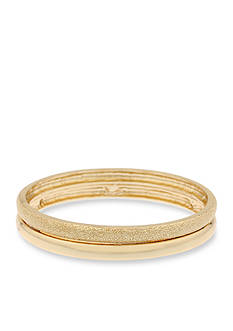 Gloria Vanderbilt Gold-Tone Gold Reef Bangle Bracelet