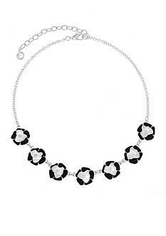 Gloria Vanderbilt Silver-Tone Colors in Bloom Jet Statement Necklace