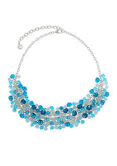 Gloria Vanderbilt Silver-Tone Night & Day Statement Necklace