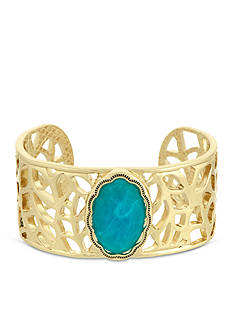 Laundry by Shelli Segal Gold-Tone Stone Cuff Bracelet