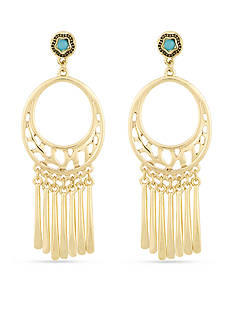 Laundry by Shelli Segal Gold-Tone Cutout Chandelier Earrings