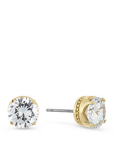 Laundry by Shelli Segal Round Cubic Zirconia Stud Earrings