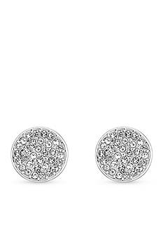 Laundry by Shelli Segal Pave Disc Stud Earrings