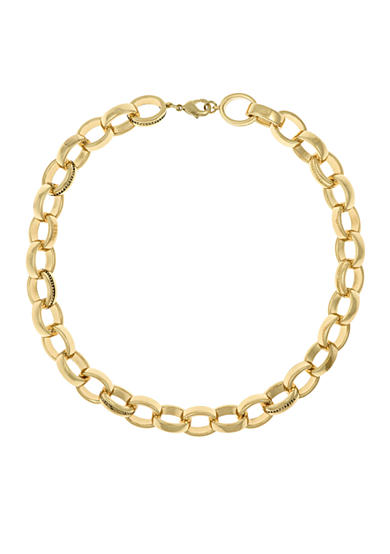 Laundry by Shelli Segal Gold-Tone Chain Link Collar Necklace