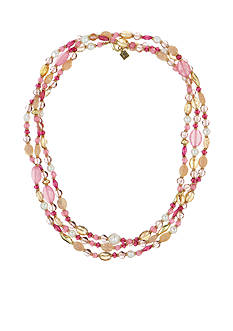 Laundry by Shelli Segal Gold-Tone Beaded Drama Necklace