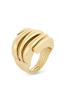 Laundry by Shelli Segal Gold-Tone Sculptural Ring