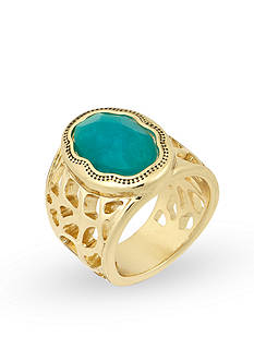 Laundry by Shelli Segal Center Stone Ring