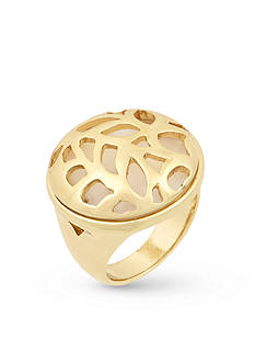 Laundry by Shelli Segal Gold-Tone Metal Leaf Cutout Ring