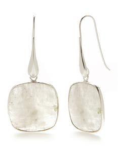 SURCEE Sterling Silver Moonstone Drop Earrings