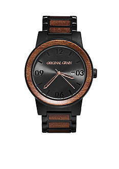 ORIGINAL GRAIN Men's Barrel Sapele Black Watch