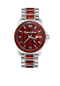 ORIGINAL GRAIN Men's Classic Rosewood Chrome Watch