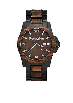 ORIGINAL GRAIN Men's Classic Ebony Black Watch