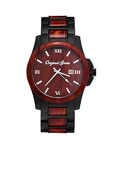 ORIGINAL GRAIN Men's Classic Black Rosewood Watch