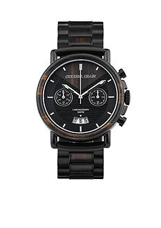 ORIGINAL GRAIN Men's Alterra Matte Black Ebony Wood Watch