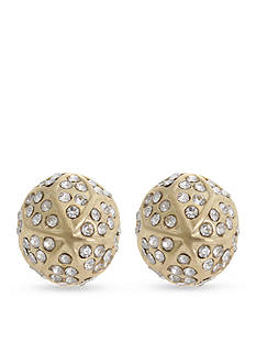 Curvy Chic Gold-Tone Crystal Stud Earrings
