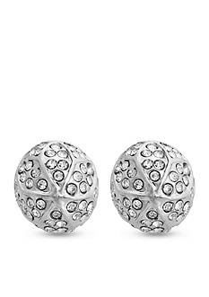 Curvy Chic Silver-Tone Crystal Stud Earrings