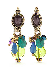 New Directions® Gold-Tone Multi Bead Drop Earrings
