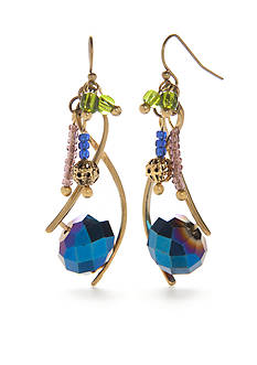 New Directions® Gold-Tone Beaded Drop Earrings