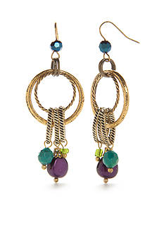 New Directions® Gold-Tone Circular Dangle Drop Earrings