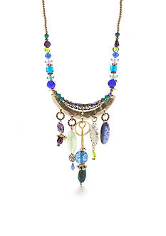 New Directions Gold-Tone Multi Bead Statement Necklace