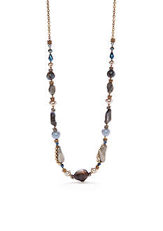 New Directions Gold-Tone Blue Northern Strand Necklace