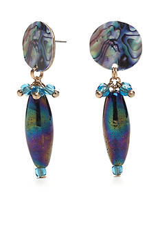 New Directions® Gold-Tone Blue Lagoon Drop Earrings