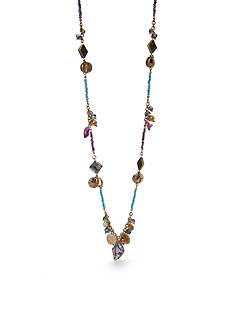 New Directions Gold-Tone Blue Lagoon Long Necklace