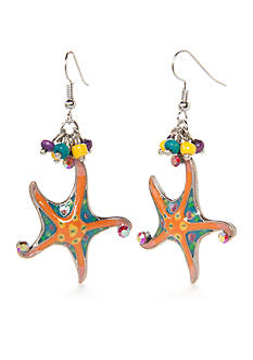 New Directions Silver-Tone Under The Sea Starfish Drop Earrings