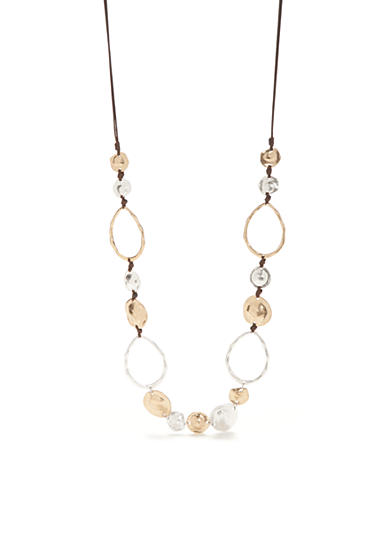 New Directions® Two-Tone Casual Metal Linked Rings Necklace