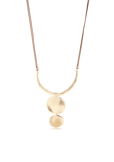 New Directions® Gold-Tone Casual Metal Pendant Necklace