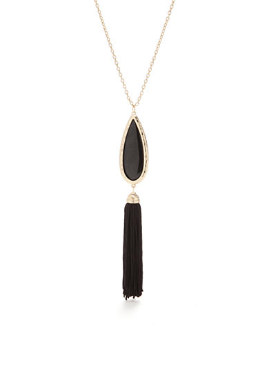 New Directions® Gold-Tone Tassels Strand Necklace