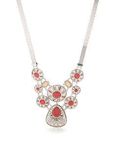 New Directions® Silver-Tone Bon Voyage Filigree Statement Necklace