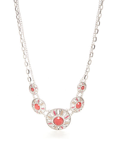 New Directions® Silver-Tone Bon Voyage Collar Necklace