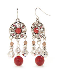 New Directions® Silver-Tone Bon Voyage Filigree Chandelier Earrings