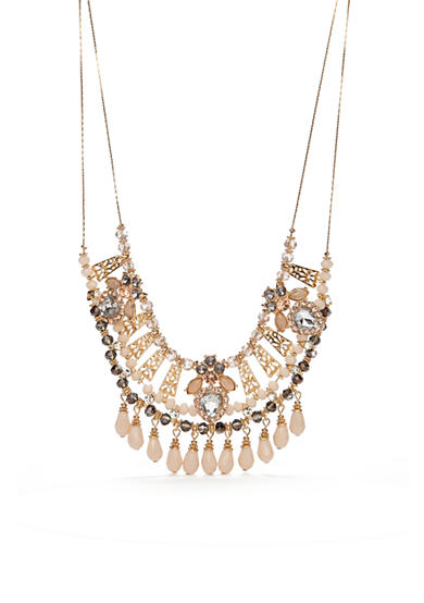 New Directions® Gold-Tone Winter Garden Statement Necklace
