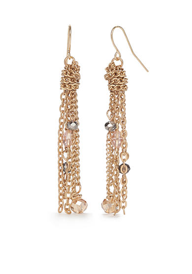 New Directions® Gold-Tone Winter Garden Tassel Drop Earrings