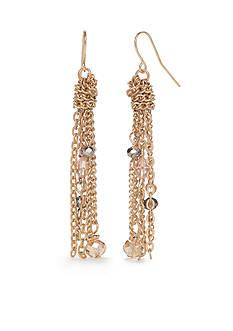 New Directions Gold-Tone Winter Garden Tassel Drop Earrings
