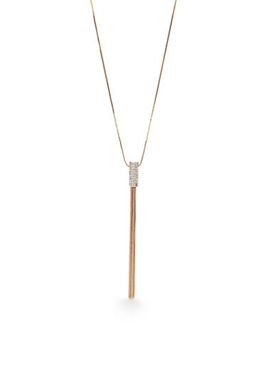 New Directions® Gold-Tone Crystal Long Tassel Pendant Necklace