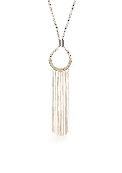 New Directions® Two-Tone Tassels Strand Necklace
