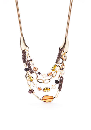 New Directions® Gold-Tone Wild Poetry Layered Necklace